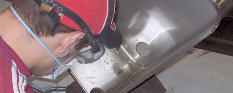 fabrication et Polissage évier inox