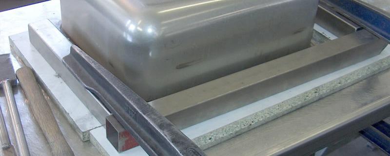 fabrication évier inox